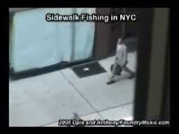 Sidewalk Fishing